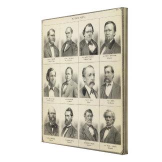 Portraits of Public Men, Minnesota Canvas Prints