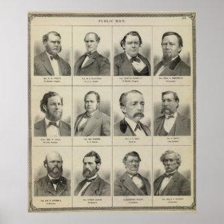 Portraits of Public Men, Minnesota Poster