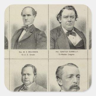 Portraits of Public Men, Minnesota Square Sticker