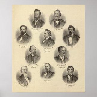 Portraits of Rev H Gilliland, Wm F Terhune Poster