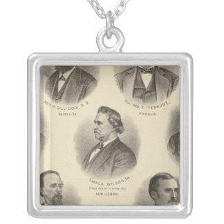 Portraits of Rev H Gilliland, Wm F Terhune Silver Plated Necklace