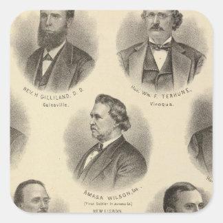 Portraits of Rev H Gilliland, Wm F Terhune Square Sticker