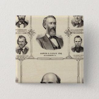Portraits of Robert Hunter, Aaron G Cloud 15 Cm Square Badge