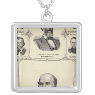 Portraits of Robert Hunter, Aaron G Cloud Silver Plated Necklace