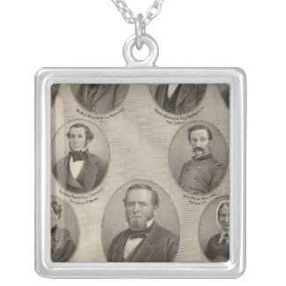Portraits of Saml Hanna, Peter Heller Silver Plated Necklace
