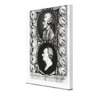 Portraits of the Encyclopaedists Jean Canvas Print