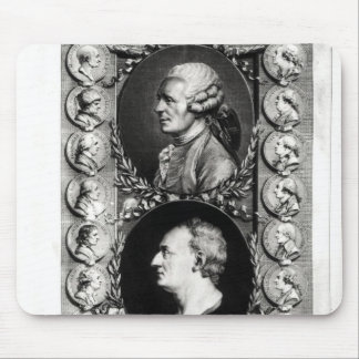 Portraits of the Encyclopaedists Jean Mouse Mat