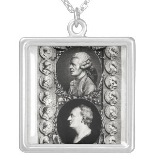 Portraits of the Encyclopaedists Jean Silver Plated Necklace