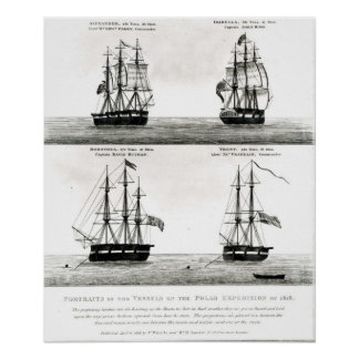 Portraits of the vessels on the Polar Expedition Poster