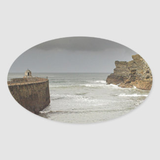 Portreath harbour oval sticker