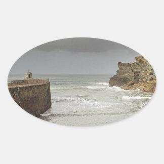 Portreath harbour oval sticker