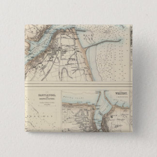 Ports and Harbours on the East Coast of England 15 Cm Square Badge