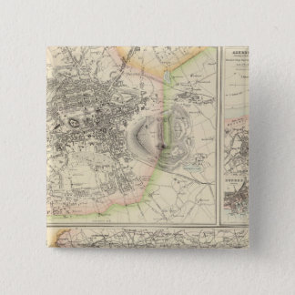 Ports and Harbours On The East Coast of Scotland 15 Cm Square Badge
