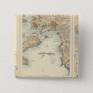 Ports and Harbours on the South Coast of England 15 Cm Square Badge