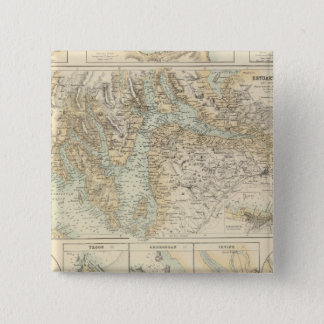 Ports and Harbours On The West Coast of Scotland 15 Cm Square Badge