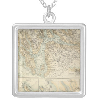Ports and Harbours On The West Coast of Scotland Silver Plated Necklace