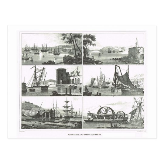 Ports and harbours postcard