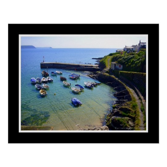 Portscatho Harbour, Cornwall Poster