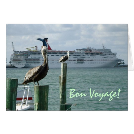 Portside View No. 2 Bon Voyage Card