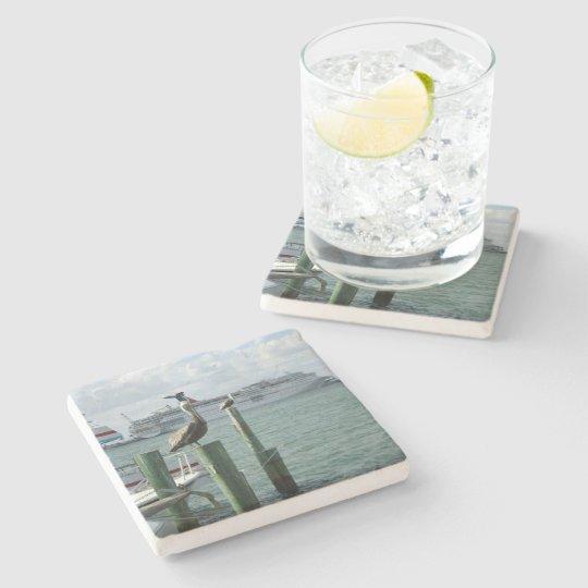 Portside View No.2 Stone Beverage Coaster