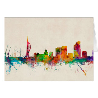 Portsmouth England Skyline Card