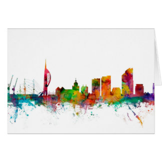 Portsmouth England Skyline Greeting Card