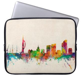 Portsmouth England Skyline Laptop Sleeve