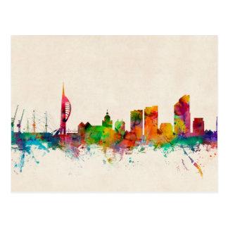 Portsmouth England Skyline Postcard