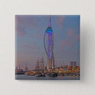 Portsmouth, Hampshire, England 15 Cm Square Badge