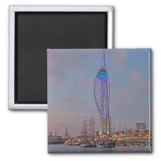 Portsmouth, Hampshire, England Square Magnet