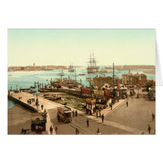 Portsmouth Harbour, Hampshire, England Card