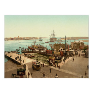Portsmouth Harbour, Hampshire, England Poster