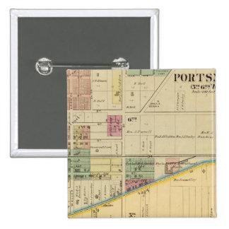 Portsmouth, Ohio 15 Cm Square Badge