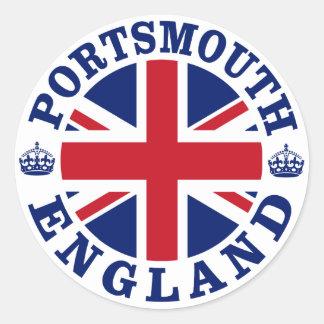 Portsmouth Vintage UK Design Classic Round Sticker