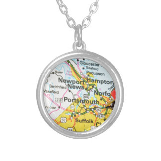 Portsmouth, Virginia Silver Plated Necklace