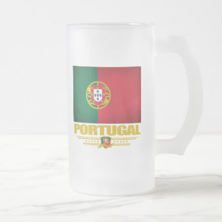 Portugal 2 frosted glass beer mug