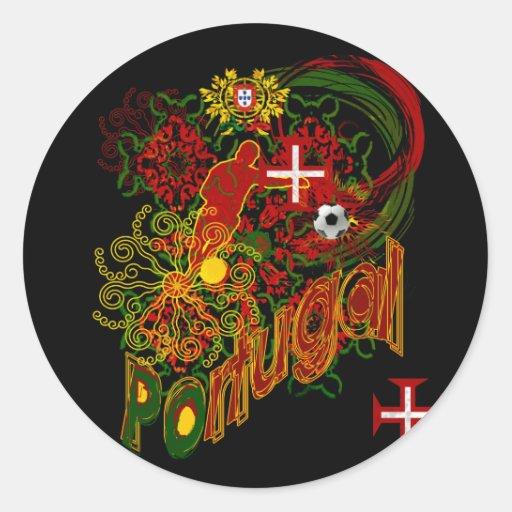 Portugal Adesivos - Preço por 20 Adesivos Round Sticker