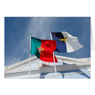 Portugal and Azores flags Card