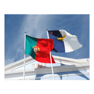 Portugal and Azores flags Personalized Flyer