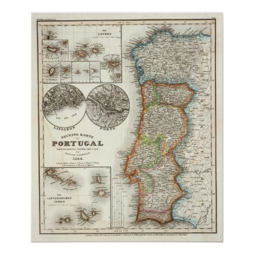 Portugal and Cape Verde Islands Print