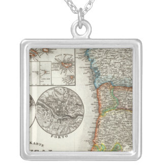 Portugal and Cape Verde Islands Silver Plated Necklace