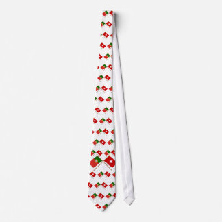 Portugal and Switzerland Crossed Flags Tie