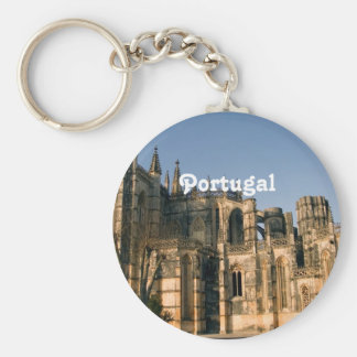 Portugal Architecture Basic Round Button Key Ring