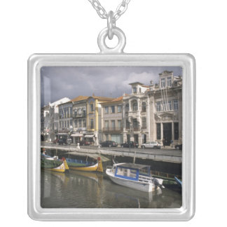 Portugal, Aveiro. Moliceiros (seaweed collecting Silver Plated Necklace