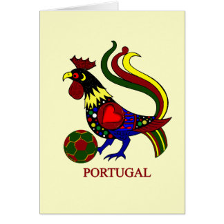 """Portugal barcelos """"galo"""" jogador de futebol greeting card"""