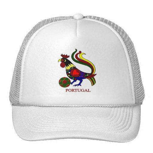 """Portugal barcelos """"galo"""" jogador de futebol hats"""