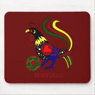 "Portugal barcelos ""galo"" jogador de futebol mouse pad"