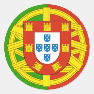 Portugal Classic Round Sticker