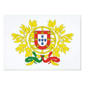 Portugal Coat of Arms 13 Cm X 18 Cm Invitation Card