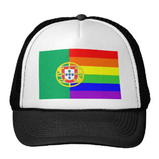 portugal country gay proud rainbow flag homosexual cap